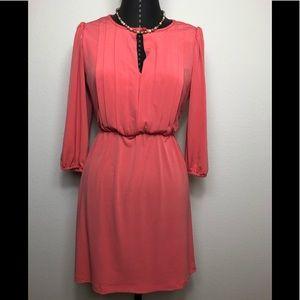 Sweet Storm Key Hole Orange Dress